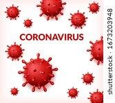 abstract virus background.... | Shutterstock .eps vector #1673203948