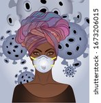 portrait of african american ... | Shutterstock .eps vector #1673206015