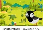 cartoon scene with different... | Shutterstock . vector #1673214772
