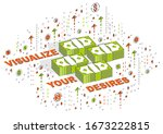 visualize your goals business... | Shutterstock .eps vector #1673222815