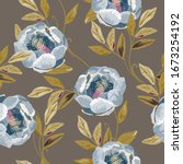 delicate light blue roses and...   Shutterstock .eps vector #1673254192