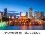 Chicago Skyline Panorama With...