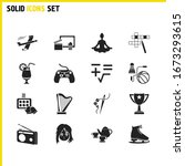 activity icons set with math ...