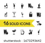 drink icons set with passion...