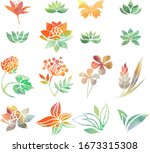 collection of variable plants...   Shutterstock .eps vector #1673315308