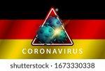 coronavirus  warning sign on...   Shutterstock .eps vector #1673330338