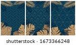 creative set of elegant... | Shutterstock .eps vector #1673366248