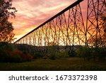Lethbridge High Level Bridge Sunset