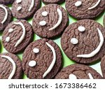 Chocolate cookies with smilies...