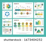colorful finance or training... | Shutterstock .eps vector #1673404252