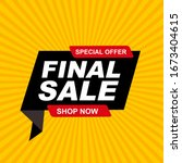 abstract final sale poster.... | Shutterstock .eps vector #1673404615