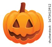 Autumn Pumpkin Icon. Cartoon Of ...