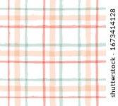 gingham seamless pattern.... | Shutterstock .eps vector #1673414128