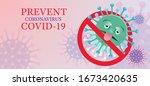 covid 19 virus character no... | Shutterstock .eps vector #1673420635