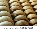 wheels of parmesan cheese... | Shutterstock . vector #167342402