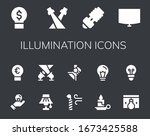 illumination icon set. 14...   Shutterstock .eps vector #1673425588