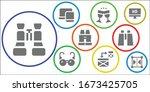 modern simple set of reflection ...   Shutterstock .eps vector #1673425705