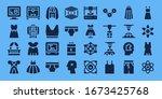 model icon set. 32 filled model ... | Shutterstock .eps vector #1673425768