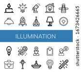 set of illumination icons. such ...   Shutterstock .eps vector #1673426665