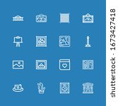 editable 16 gallery icons for...   Shutterstock .eps vector #1673427418