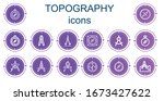 editable 14 topography icons... | Shutterstock .eps vector #1673427622