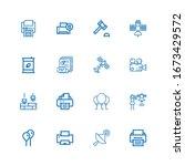 editable 16 glossy icons for... | Shutterstock .eps vector #1673429572