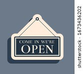 black hanging sign with text... | Shutterstock .eps vector #1673436202