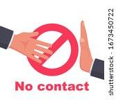 do not contact. no handshake... | Shutterstock .eps vector #1673450722