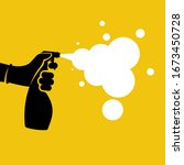 black icon antiseptic spray... | Shutterstock .eps vector #1673450728