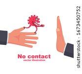 bacteria on hand. coronavirus... | Shutterstock .eps vector #1673450752