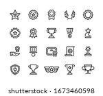 award line icons. winner reward ... | Shutterstock .eps vector #1673460598
