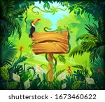 cartoon jungle background....