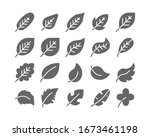 diagonal leaf solid glyph icon... | Shutterstock .eps vector #1673461198