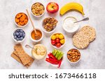 Healthy Snack Concept  Top View.