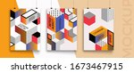 modern abstract covers set....   Shutterstock .eps vector #1673467915