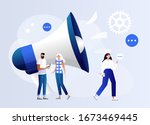 public relations and affairs ... | Shutterstock .eps vector #1673469445