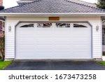 Garage Door In Luxury House In...