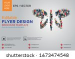 poster and flyer design with... | Shutterstock .eps vector #1673474548