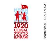 april 23 turkish national...   Shutterstock .eps vector #1673478565