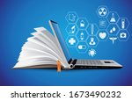 healthcare knowledge base  ... | Shutterstock .eps vector #1673490232