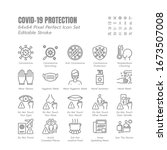 simple set of covid 19... | Shutterstock .eps vector #1673507008