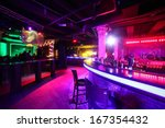 Stock photo european stylish night club with bright lights 167354432