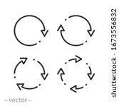 arrows icon set  circular... | Shutterstock .eps vector #1673556832