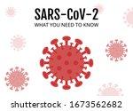 coronavirus or sars   cov   2...   Shutterstock .eps vector #1673562682