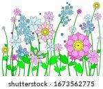 Flowers Arranged In A Row ...