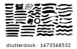 black paint wavy and straight... | Shutterstock .eps vector #1673568532