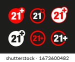 a twenty one years over icon set | Shutterstock .eps vector #1673600482