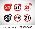 a twenty one years over icon set | Shutterstock .eps vector #1673600485