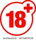 a eighteen years over icon  | Shutterstock .eps vector #1673609218