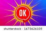 ok badge. flare light flash...   Shutterstock .eps vector #1673626105